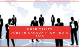Hospitality jobs in Canada from India 2019
