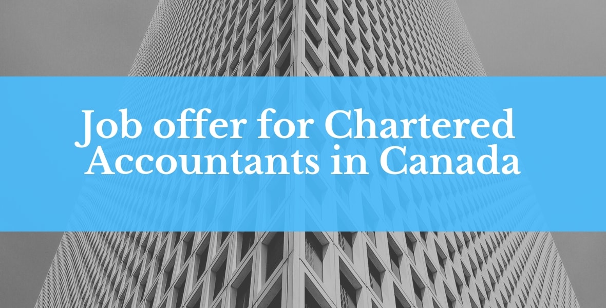 Job offer for Chartered Accountants in Canada